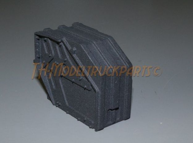THM 00.3801 Battery box Tamiya Actros in Black Natural Versatile Plastic