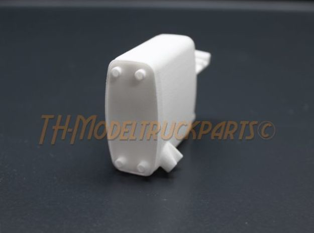 THM 00.2202 Exhaust Tamiya MAN in White Processed Versatile Plastic
