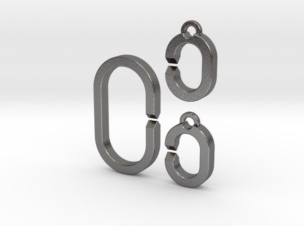 Medium ring set in Polished Nickel Steel