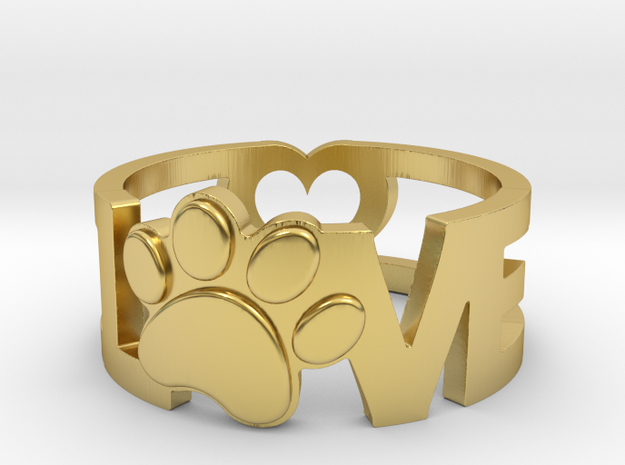 Unconditional Love Ring in Polished Brass: 5 / 49