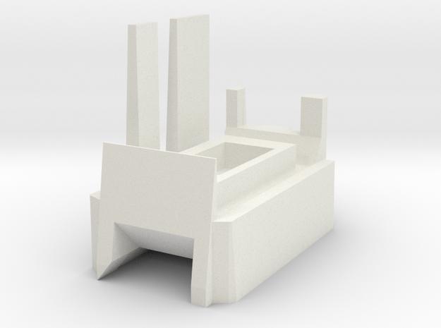Megatron Left Ankle v2 in White Natural Versatile Plastic