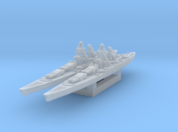 Richelieu battleship (1943 post-refit) 1/4800 in Smooth Fine Detail Plastic