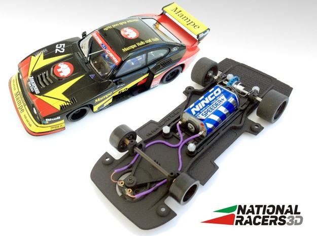 3D chassis - Fly Ford Capri RS Turbo (Combo) in Black Natural Versatile Plastic