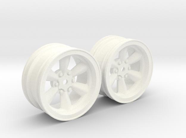 Wheels - 26mm Touring - 934RSRBlack +4mm Offset in White Processed Versatile Plastic