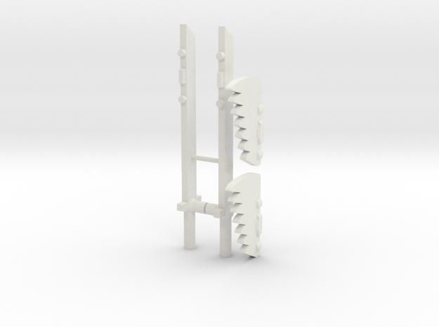 Transformers WFC Siege Sideswipe Swords in White Natural Versatile Plastic