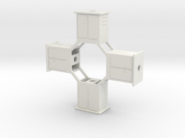 Control boxes Revised in White Natural Versatile Plastic