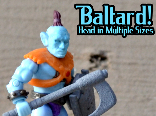 Baltard Head - Multisize in Smooth Fine Detail Plastic: Extra Small