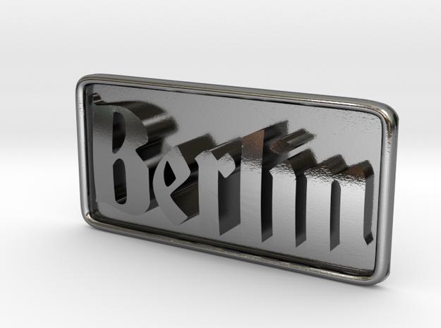 Berlin-DeutschG-Plate in Polished Silver
