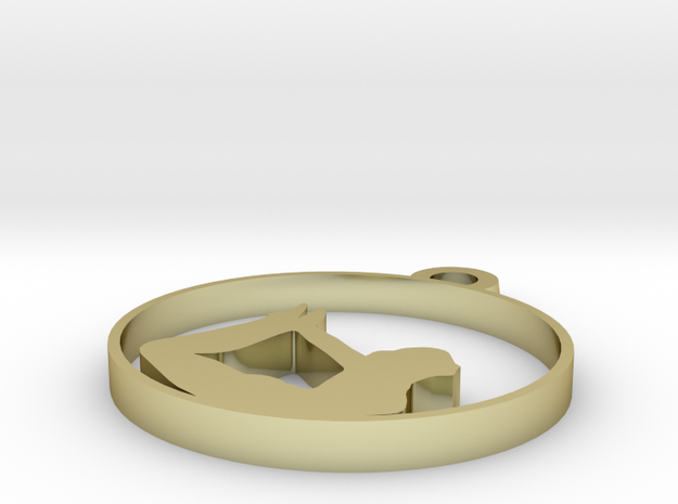yoga - 02 in 18k Gold Plated Brass