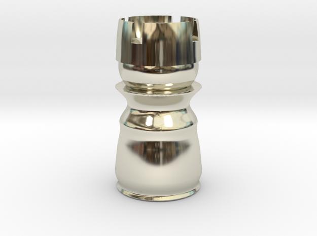 Rook White - Bullet Series in 14k White Gold