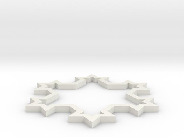 Kochsnow 1 in White Natural Versatile Plastic