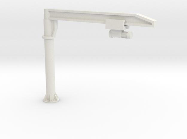 O Scale Column Jib Crane #1 in White Natural Versatile Plastic
