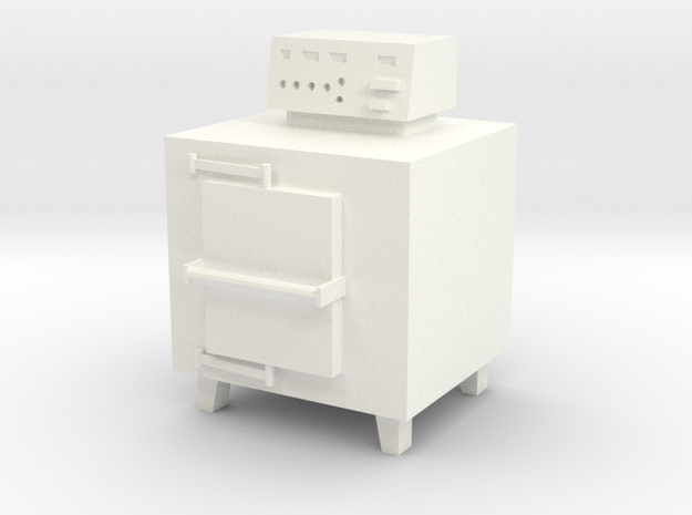 HO Scale Small Incinerator in White Processed Versatile Plastic