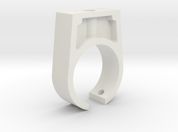 Boba Fett ESB: EE-3 Blaster Front Barrel Clip in White Natural Versatile Plastic