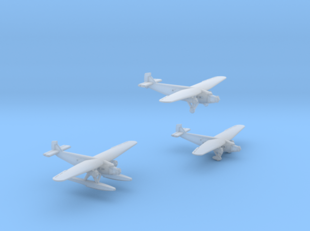 Ford Trimotor  Set of Three in Smooth Fine Detail Plastic: 1:700