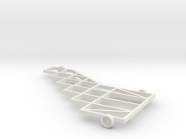 1/64 (s scale) 12 Platform Plow Mainframe in White Natural Versatile Plastic