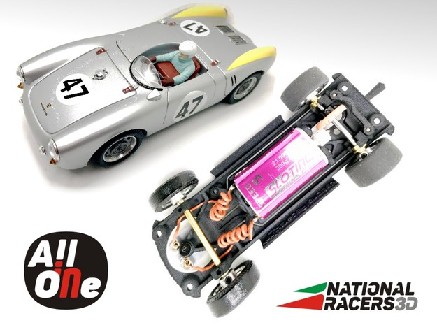 Chassis-Revell Porsche 550 Spyder (Inline AiO) in Black PA12