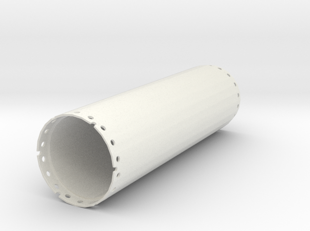 Casing joint 1500mm, length 5,00m in White Natural Versatile Plastic