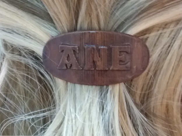ANE Personalized Oval Hair Barrete 40-50 in White Natural Versatile Plastic