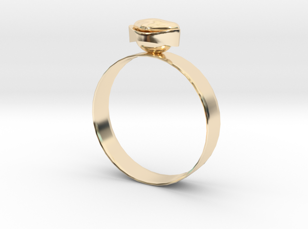 """GoldRing version3 """"Heart"""" 5mm in 14K Yellow Gold"""