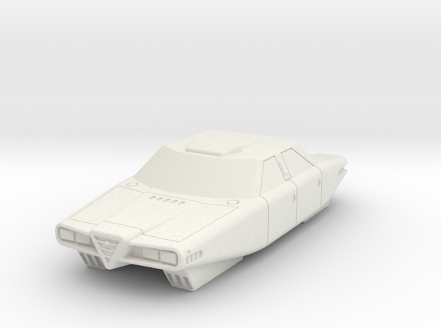 AC08 Alpha 9 Air Car (28mm) in White Natural Versatile Plastic