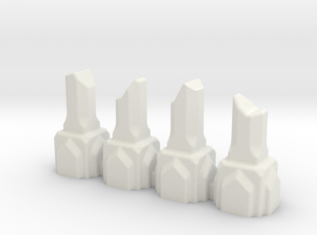 Mine of Moria Column Ruins in White Natural Versatile Plastic