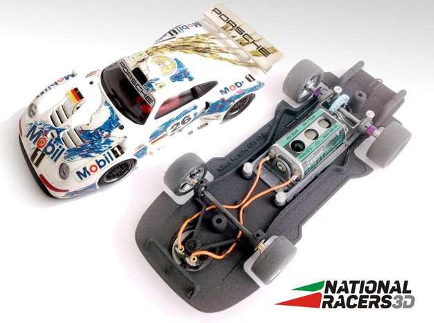 3D Chassis - Ninco Porsche 911 GT1 (Combo) in Black PA12