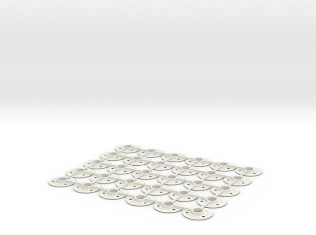 V2 - kit flans 3D GLA & MR03 in White Natural Versatile Plastic