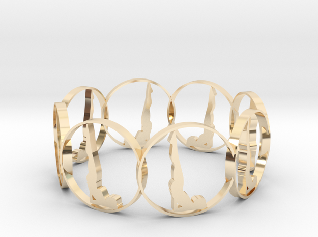 yoga1 in 14k Gold Plated Brass