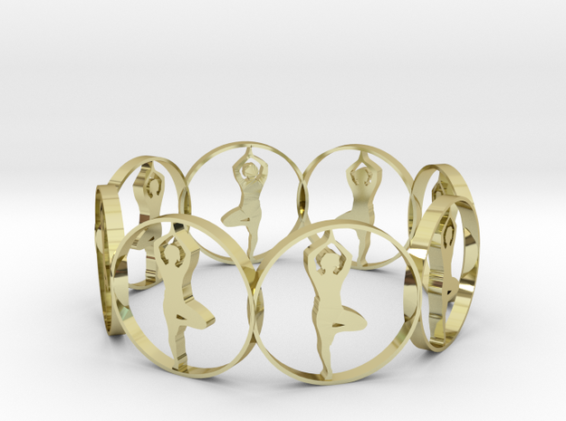 13 (2) in 18k Gold Plated Brass
