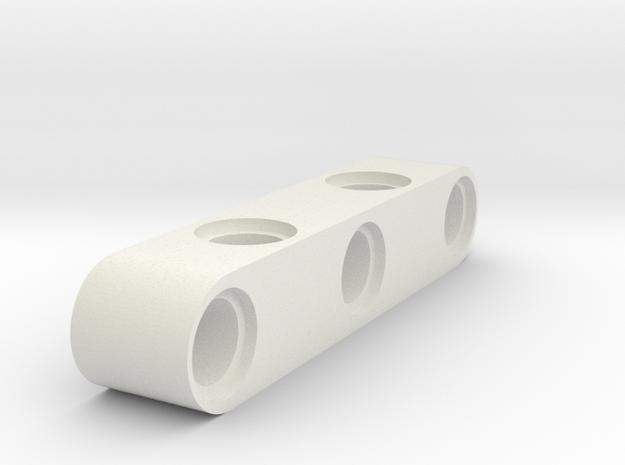 5 Beam 90 Degrees Holes in White Natural Versatile Plastic