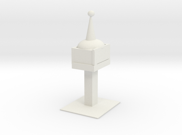 Space Needle in White Natural Versatile Plastic