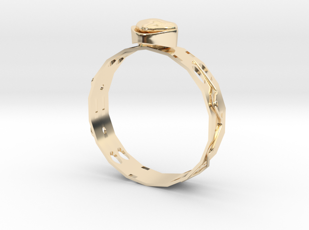 Ring , Ear Ring ,  Pendant on Neck ,  SET Number2 in 14k Gold Plated Brass