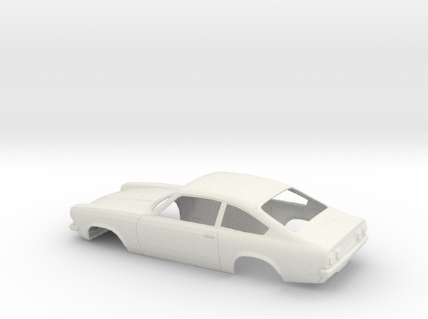 1/16 1971 Chevrolet Vega Hatchback in White Natural Versatile Plastic