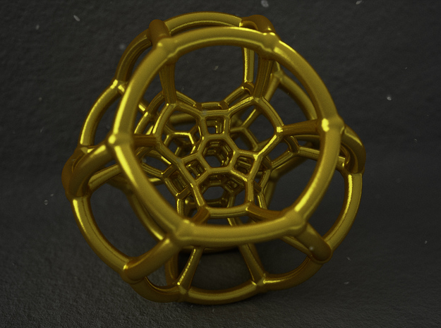 Coxeter Polytope in Polished Gold Steel