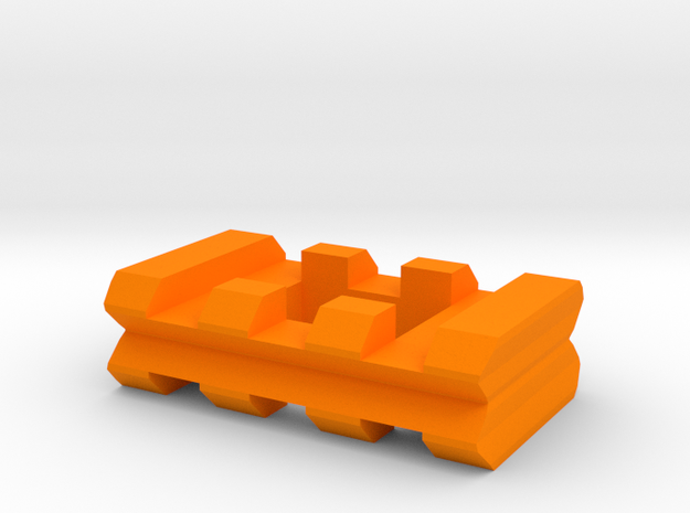 "Back-to-Back Weaver Rails Adapter (3 Slots 0.405""  in Orange Processed Versatile Plastic"