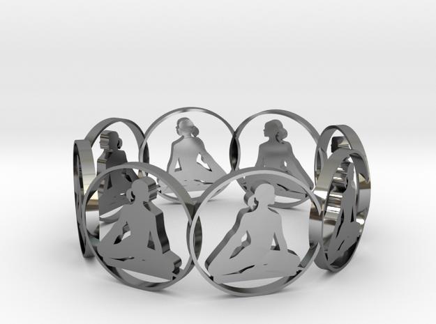 yoga bracelet in Fine Detail Polished Silver