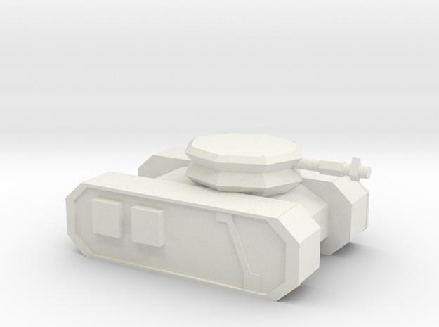 Sci-fi Tank 2 in White Natural Versatile Plastic
