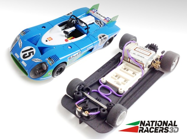 3D Chassis - SRC Matra 670 (Sidewinder) in Black PA12