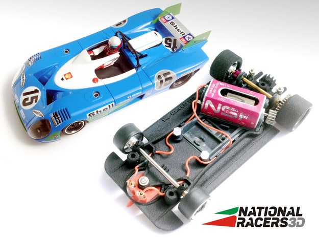 3D Chassis - SCR Matra 670 (AW/SW) in Black PA12