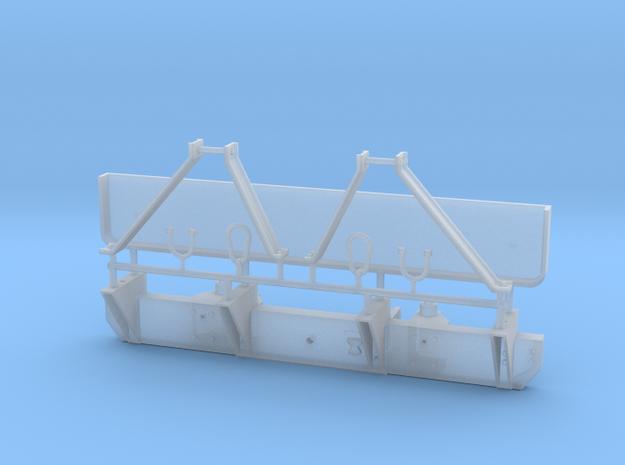 HMMWV rear bumper & cargo plate - 1/18 scale in Smooth Fine Detail Plastic