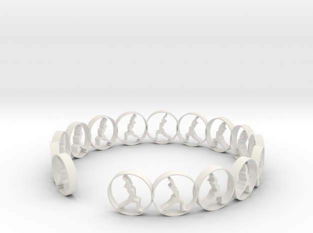 size 6 18 mm ring in White Natural Versatile Plastic
