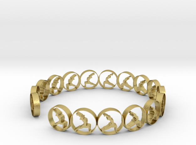 size 6 18.11 mm ring (1) in Natural Brass
