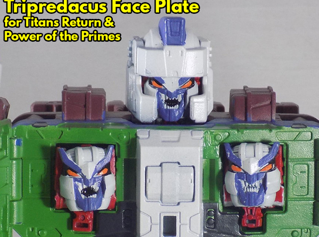 Tripredicus Faceplates (Titans Return) in Smooth Fine Detail Plastic