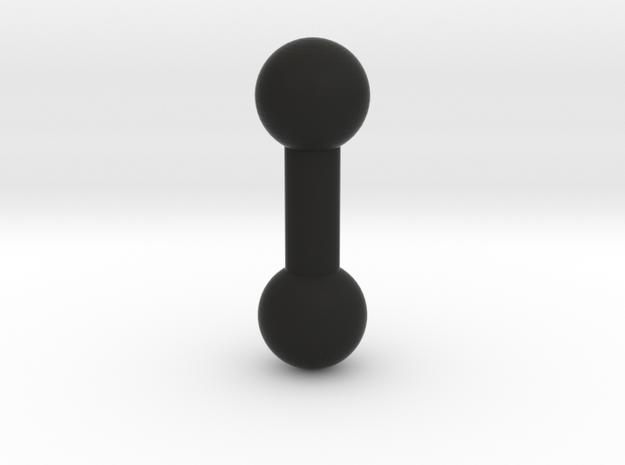 barbell 5mm 5mmshaft in Black Natural Versatile Plastic: 1:12