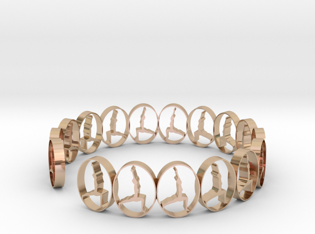 size 6 18.11 mm ring in 14k Rose Gold