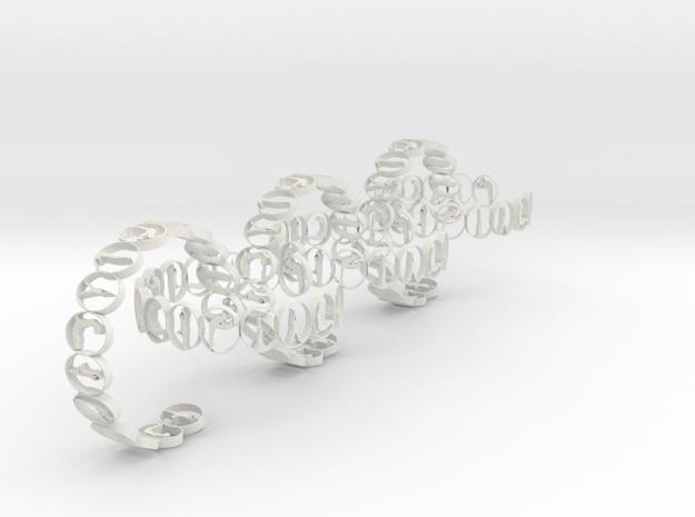 6 multi yoga pose ring in White Natural Versatile Plastic
