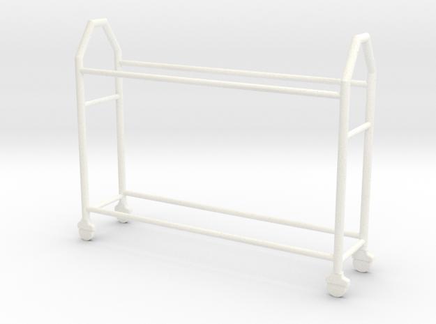 OMCP430005 Tyre rack version 3 (1/43) in White Processed Versatile Plastic