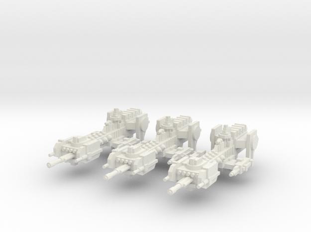 Fragata Nova x3 in White Natural Versatile Plastic
