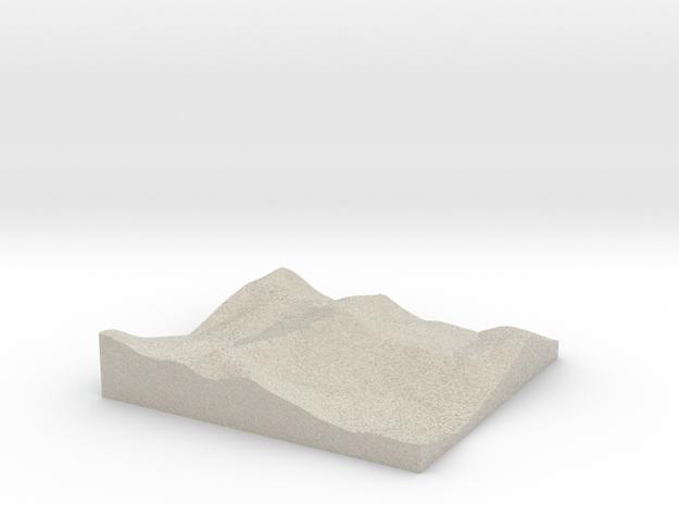 Model of Gora Gumpkopay in Natural Sandstone